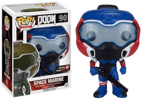 Funko POP! Games Doom Marine Vinyl Figure #90 [Blue & Red, Damaged Package]