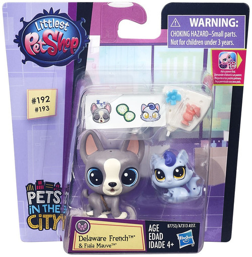 Littlest Pet Shop Pets in the City Delaware French & Fiala Mauve Figure 2-pack