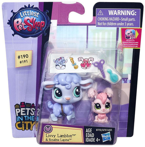 Littlest Pet Shop Pets in the City Livvy Lambton & Rosalina Lapina Figure 2-pack
