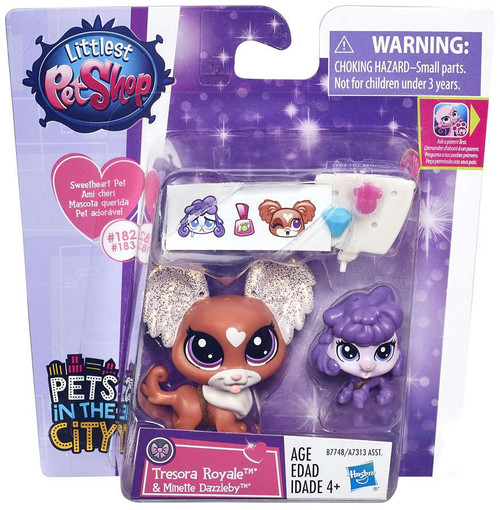 Littlest Pet Shop Pets in the City Tresora Royale & Minette Dazzleby Figure 2-pack