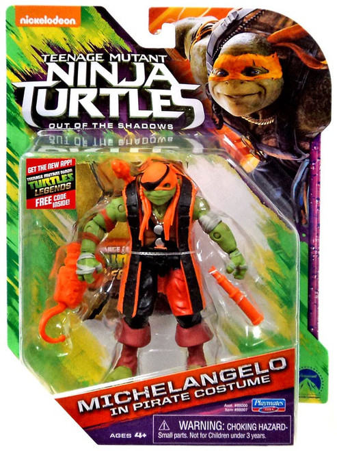 Teenage Mutant Ninja Turtles Out of the Shadows Michelangelo In Pirate Costume Action Figure
