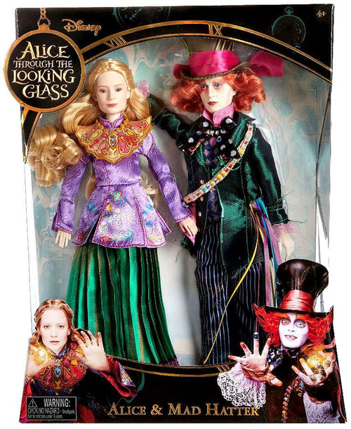 Disney Alice Through the Looking Glass Alice & Mad Hatter Exclusive 11-Inch Doll 2-Pack