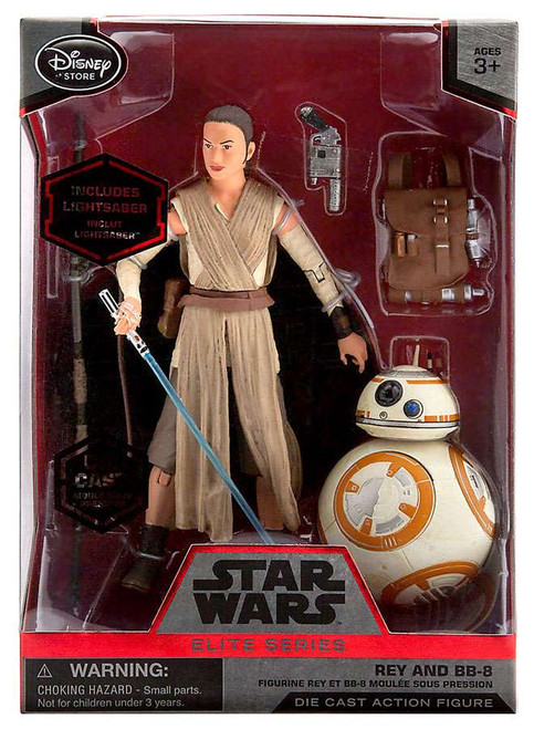 Disney Star Wars The Force Awakens Elite Rey & BB-8 Exclusive 6.5-Inch Diecast Figure [With Lightsaber]