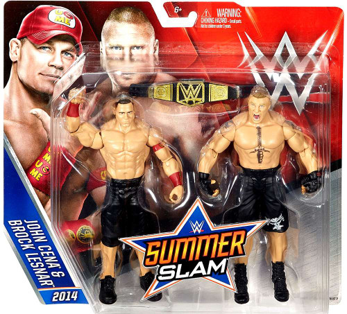 WWE Wrestling Battle Pack Summer Slam John Cena & Brock Lesnar Action Figure 2-Pack [2014]