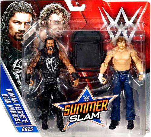 WWE Wrestling Battle Pack Summer Slam Roman Reigns & Dean Ambrose Action Figure 2-Pack [2015]