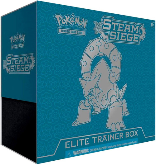 Pokemon Trading Card Game XY Steam Siege Elite Trainer Box [8 Booster Packs, 65 Card Sleeves, 45 Energy Cards & More]
