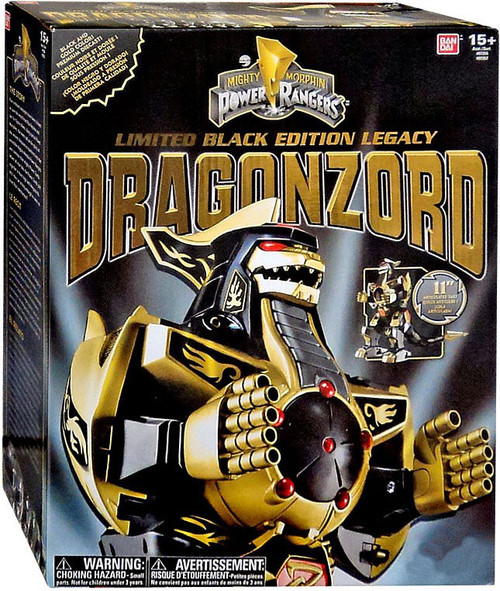 Power Rangers Mighty Morphin Legacy Limited Black Edition Dragonzord Exclusive Action Figure
