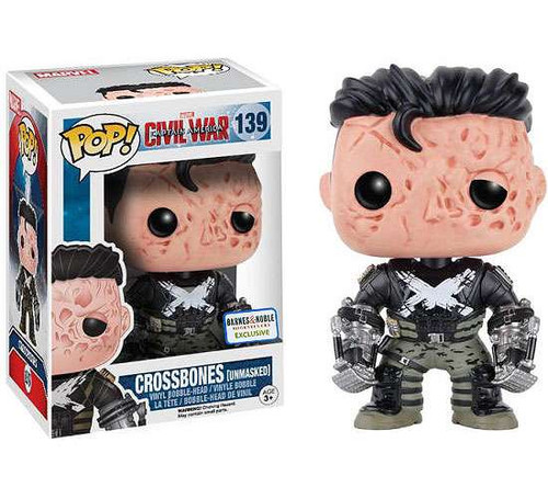 Funko Civil War POP! Marvel Crossbones Exclusive Vinyl Bobble Head #139 [Unmasked]