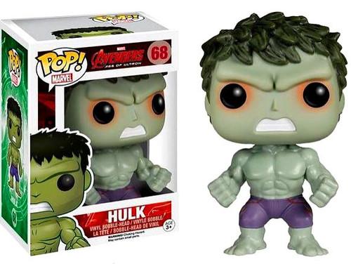 Funko Avengers Age of Ultron POP! Marvel Hulk Exclusive Vinyl Figure #68 [Red Shot Eyes Variant, Damaged Package]