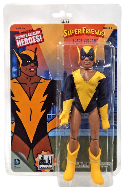 DC World's Greatest Heroes! Super Friends! Series 2 Black Vulcan Retro Action Figure