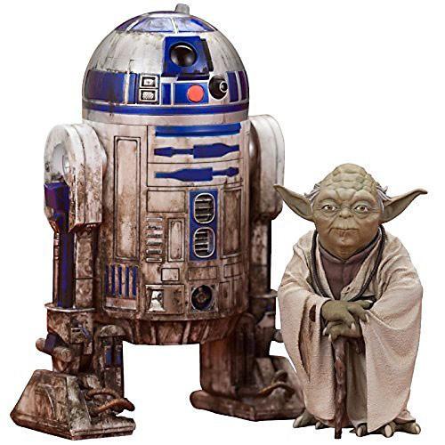 Star Wars ArtFX+ Dagobah Yoda & R2-D2 Statue Set