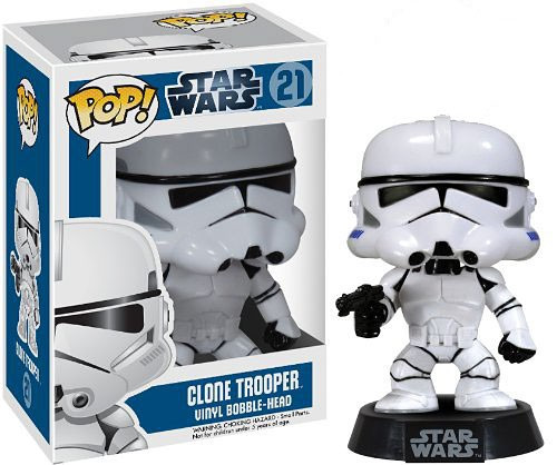 Funko POP! Star Wars Clone Trooper Vinyl Bobble Head #21 [Damaged Package]