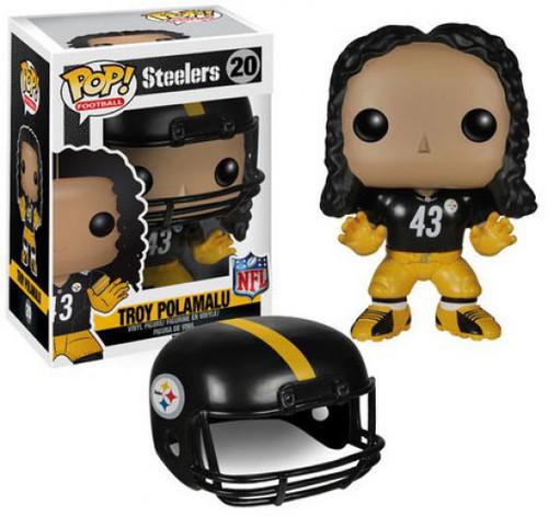 Funko NFL Pittsburgh Steelers POP! Sports Football Troy Polamalu Vinyl Figure #20 [Damaged Package]