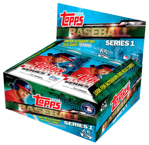 MLB Topps 2016 Series 1 Baseball Trading Card RETAIL Box [24 Packs]