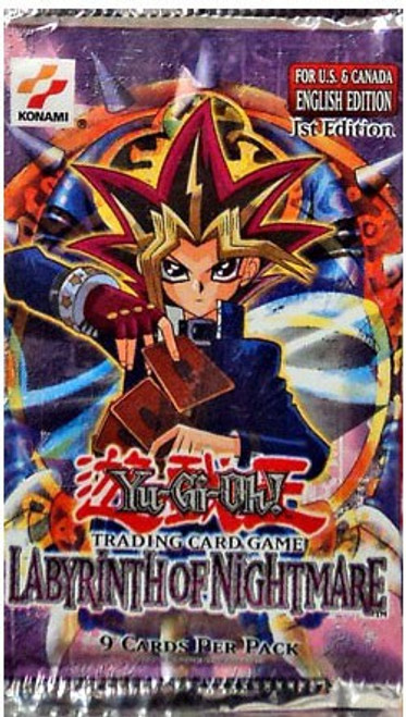 YuGiOh Trading Card Game Labyrinth of Nightmare (1st Edition) Booster Pack [9 Cards]