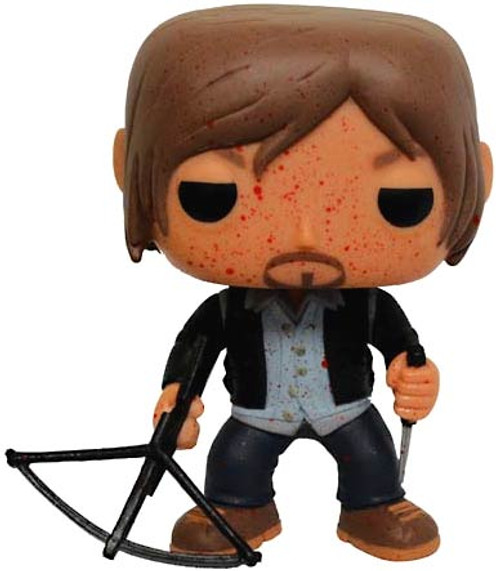 Funko The Walking Dead POP! TV Biker Daryl Dixon Exclusive Vinyl Figure #96 [Bloody Version, Damaged Package]