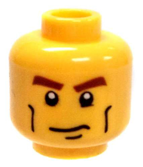 Dual Sided Head Confident Look/ Scared Look Minifigure Head [Loose]