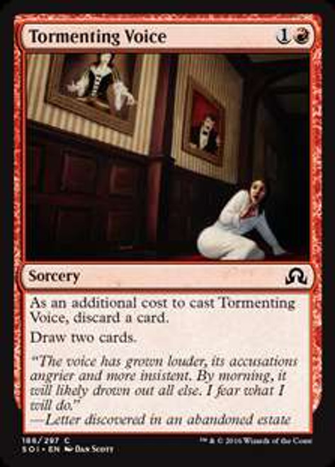 MtG Shadows Over Innistrad Common Foil Tormenting Voice #186