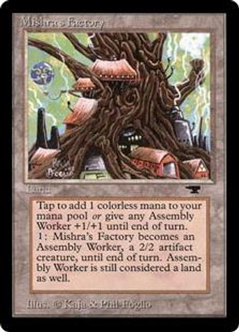 MtG Antiquities Uncommon Mishra's Factory [Spring] [Heavily Played]