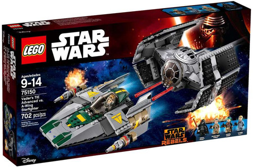 LEGO Star Wars The Force Awakens Vader's Tie Advanced vs A-Wing Starfighter Set #75150