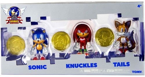 Sonic The Hedgehog Sonic Boom 25th Anniversary Sonic, Knuckles & Tails Action Figure 3-Pack [Gold Rings]