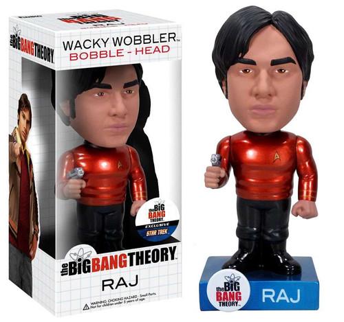 Funko The Big Bang Theory Wacky Wobbler Raj Bobble Head [Star Trek Uniform Metallic Chase]