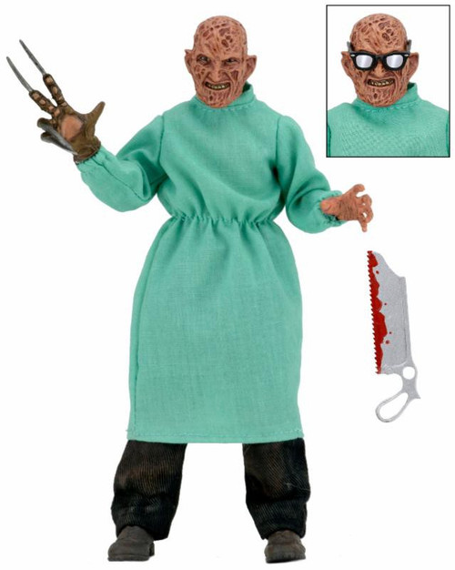 NECA Nightmare on Elm Street Part 4 Dream Masters Surgeon Freddy Krueger Clothed Action Figure