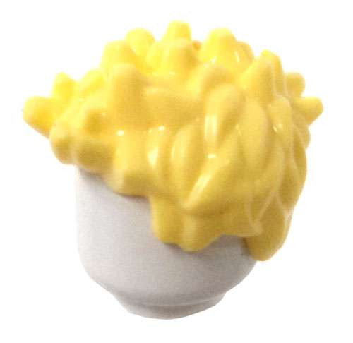 LEGO Light Yellow Spiked Loose Hair [Loose]