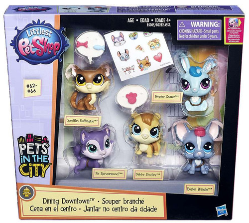 Littlest Pet Shop Pets in the City Dining Downtown