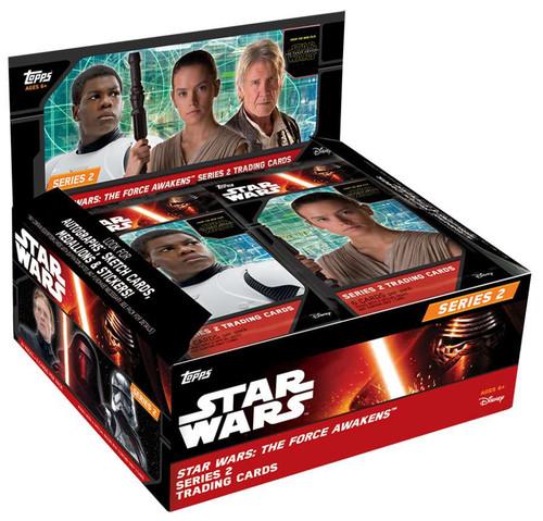 Star Wars Series 2 The Force Awakens Trading Card RETAIL Box [24 Packs]