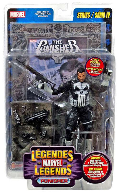Marvel Legends Series 4 Punisher Action Figure [Foil Print Variant, Multilingual Package]