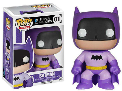 Funko DC Super Heroes POP! Heroes Batman Exclusive Vinyl Figure #01 [75th Anniversary Purple Rainbow, Damaged Package]