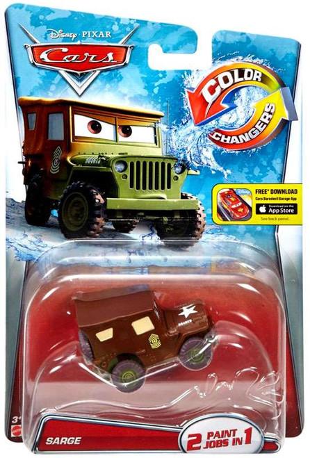 Disney / Pixar Cars Color Changers Sarge Diecast Car [2016]