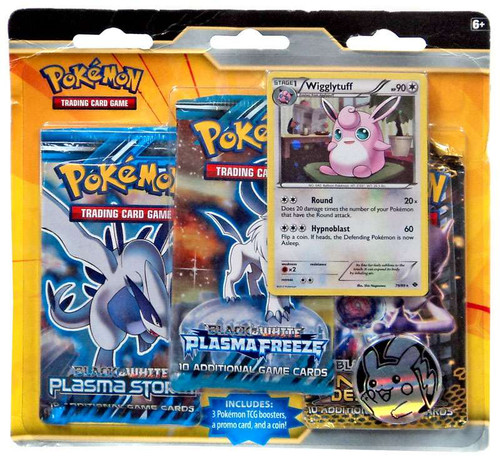 Pokemon Trading Card Game Black & White Wigglytuff Special Edition [3 Booster Packs, Promo Card & Coin]