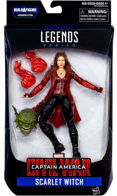 Captain America Civil War Marvel Legends Abomination Series Scarlet Witch Action Figure