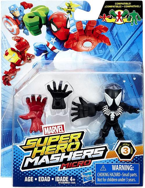 Marvel Super Hero Mashers Micro Series 3 Black Spider-Man 2-Inch Mini Figure