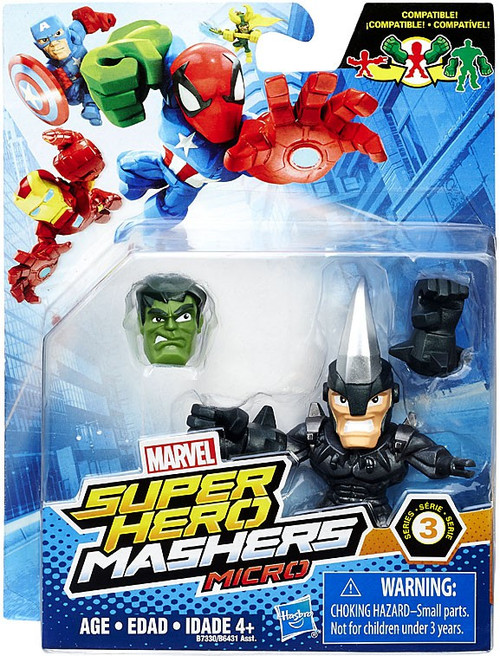 Super Hero Mashers Micro Series 3 Marvel's Rhino 2-Inch Mini Figure
