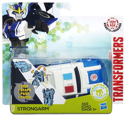 Transformers Robots in Disguise 1 Step Changers Strongarm Action Figure [Blue Hood]