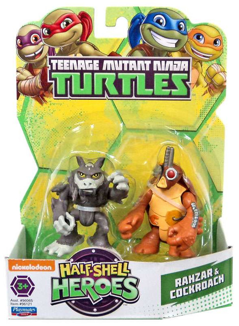 Teenage Mutant Ninja Turtles TMNT Half Shell Heroes Rahzar & Cockroach Action Figure 2-Pack