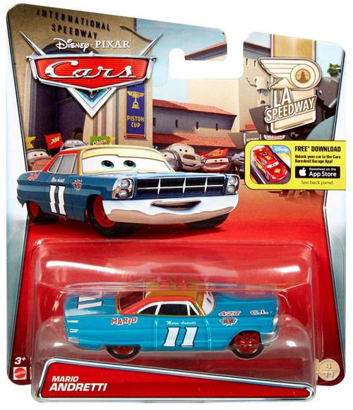 Disney / Pixar Cars LA Speedway Mario Andretti Diecast Car #4/11