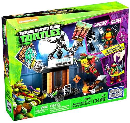 Mega Bloks Teenage Mutant Ninja Turtles Animation Raph Rooftop Blast-Out Set #15745