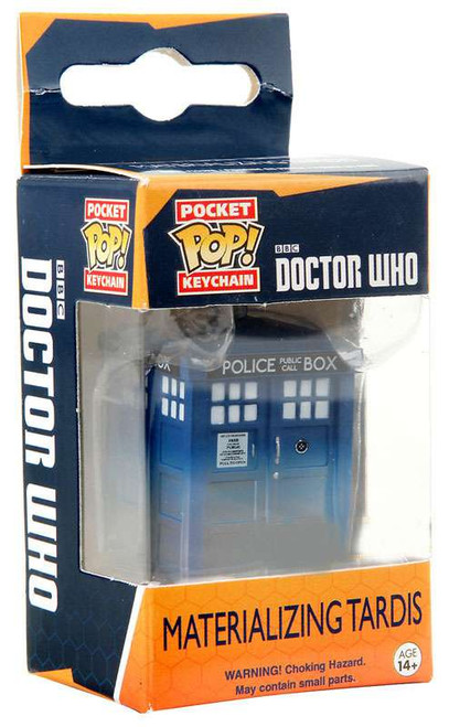 Funko Doctor Who Pocket POP! TV Tardis Keychain [Materializing]