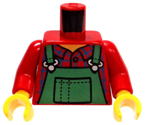LEGO Red Plaid Shirt with Green Overalls Loose Torso [Loose]