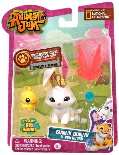 Animal Jam Sunny Bunny & Pet Ducky Mini Figure 2-Pack
