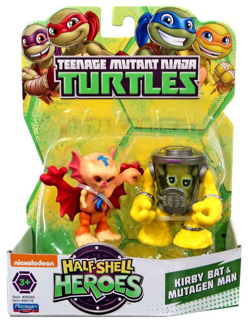 Teenage Mutant Ninja Turtles TMNT Half Shell Heroes Kirby Bat & Mutagen Man Action Figure 2-Pack