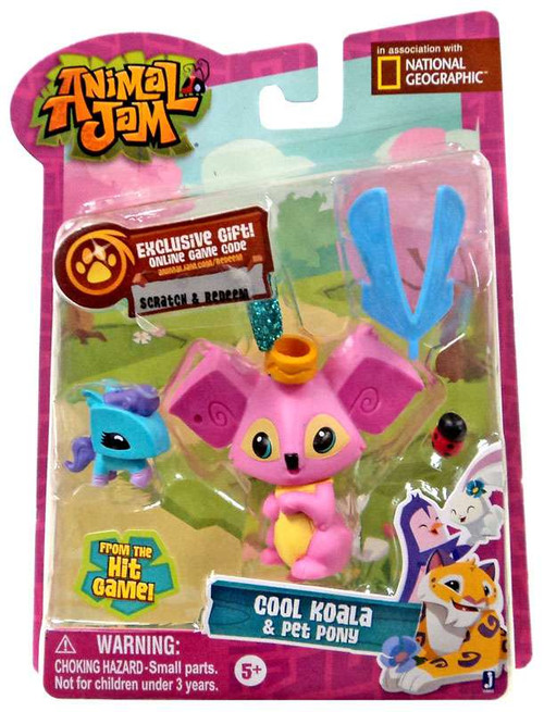 Animal Jam Cool Koala & Pet Pony Mini Figure 2-Pack