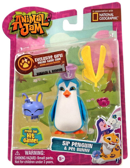 Animal Jam Sir Penguin & Pet Bunny Mini Figure 2-Pack