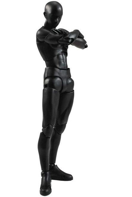 S.H. Figuarts Body Set Man Action Figure [Solid Black Color]
