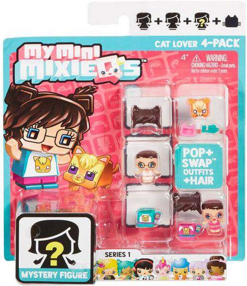 My Mini MixieQ's Series 1 Cat Lover Minifigure 4-Pack