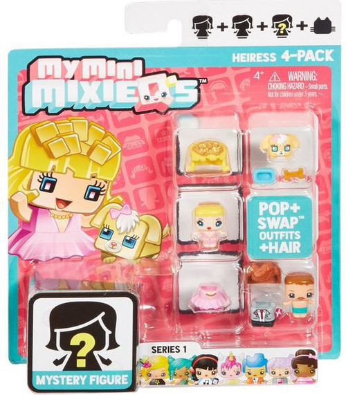 My Mini MixieQ's Series 1 Heiress Minifigure 4-Pack